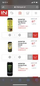 Monster Energy Drink bei Interspar 2+2 gratis (74 Cent pro Dose)