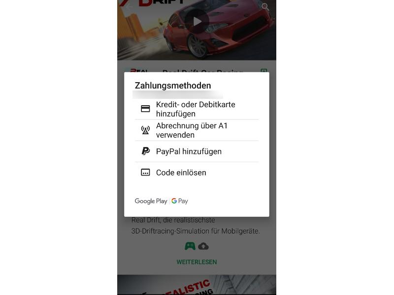 A1 – bis zu 3€ Cashback im Google Play Store für den ersten Einkauf