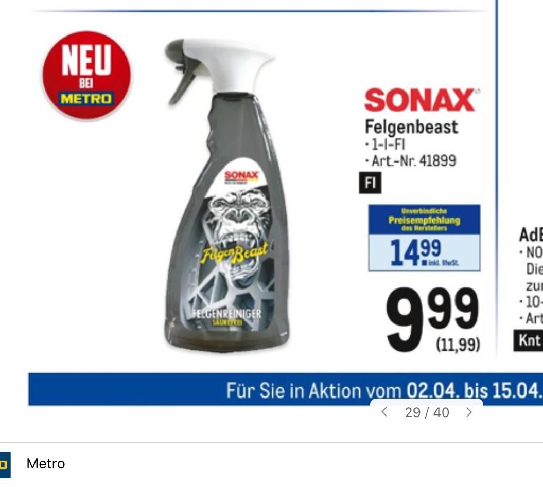 Metro Sonax Felgenbeast 1 Liter