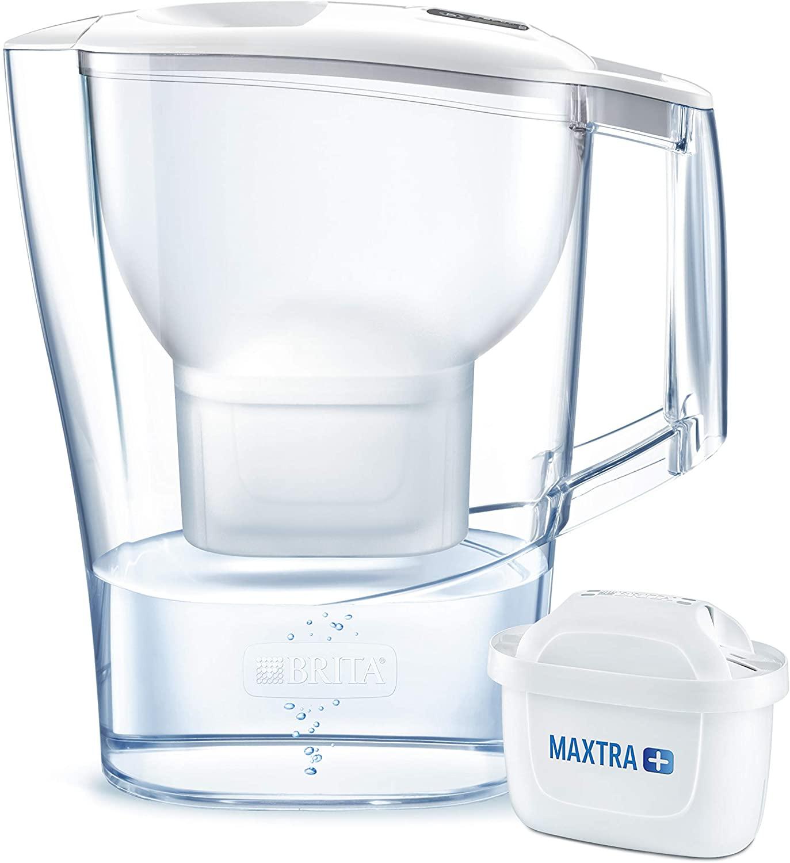 BRITA Wasserfilter Aluna weiß inkl. 1 MAXTRA+ Filterkartusche