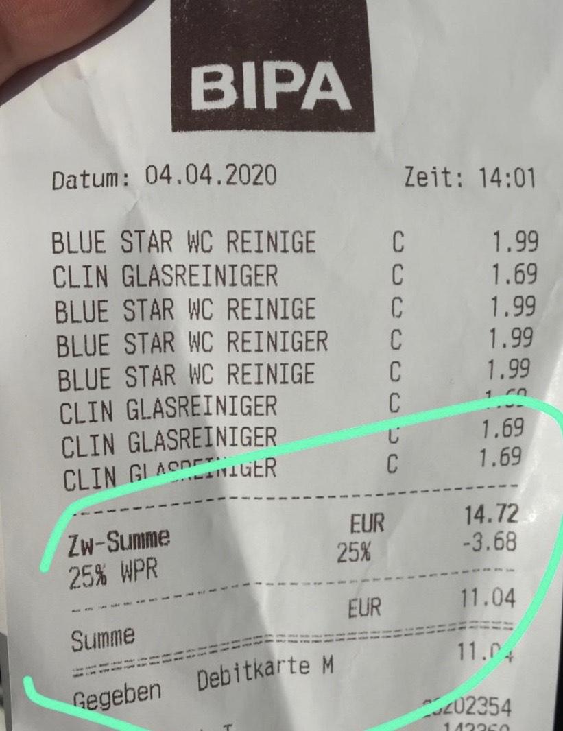 Bipa 4x Clin & 4x Blue Star + Marktguru