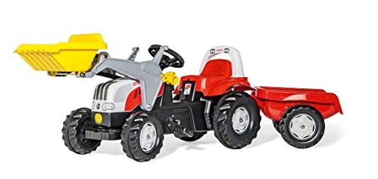 [Babymarkt] rolly®toys rollykid Steyr 6190 CVT mit Lader und Anhänger um 89,90€ statt (119€)