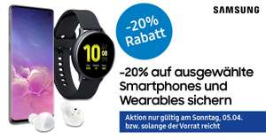 Samsung -20% Deal bei electronic4you (S10,A51,A8,Galaxy Watch Active 2,Buds)