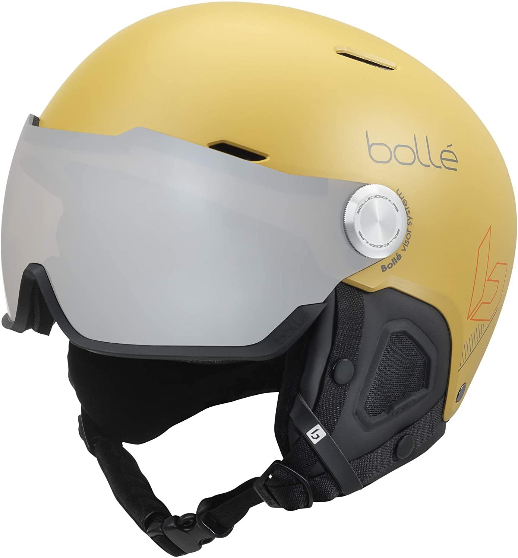 Bollé Unisex – Erwachsene Might Visor Skihelme Yellow 59-62 cm