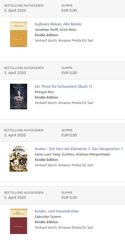VIELE GRATIS eBooks(Kindle Ausgabe 0,00 €) BEI AMAZON