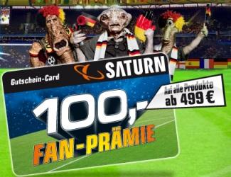100€ Saturn Fanprämie bei einem Einkauf ab 499€