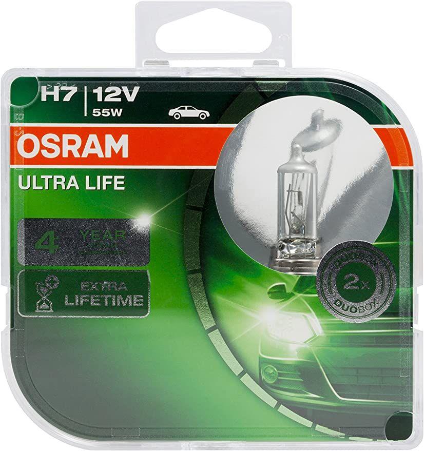 Osram Ultra Life H7 Halogenlampen (Duobox) bis zu 4 Jahren Garantie bei Registrierung