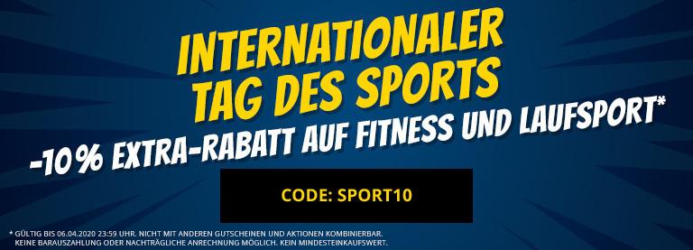 Sportspar: 10% extra Rabatt auf alle Fitness und Laufsport-Produkte (inklusive Sale)