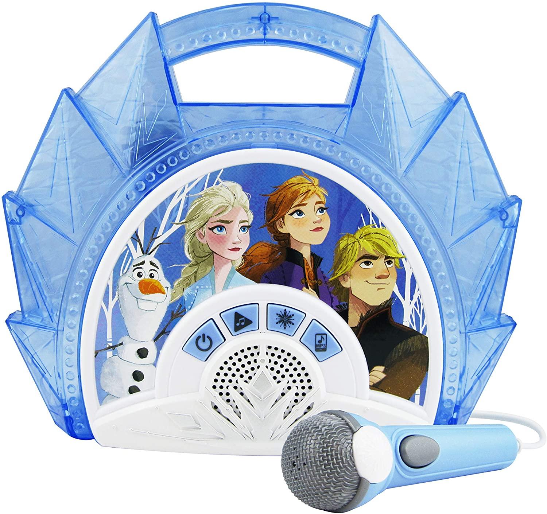 Disney Eiskönigin 2 / Frozen 2 Karaoke Maschine mit Mikrofon für Kinder - eKids FR-115V2