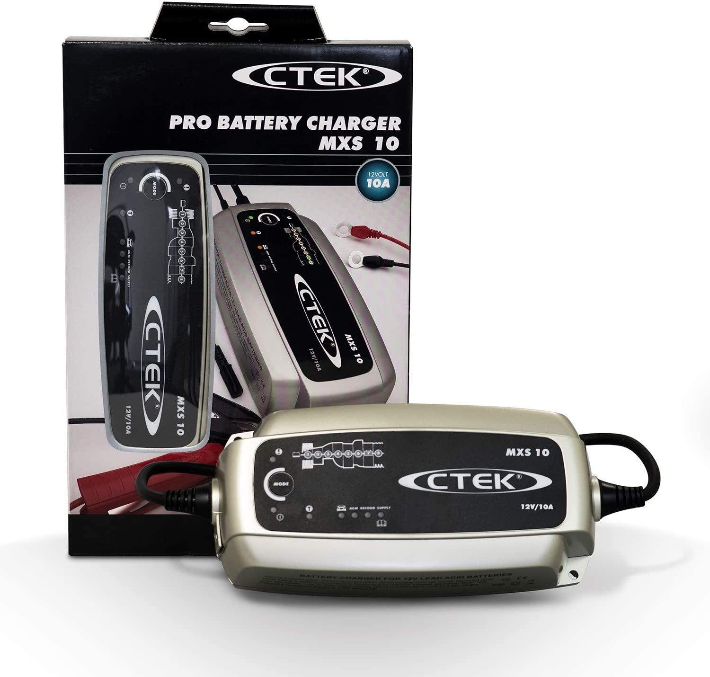 CTEK MXS 10 - Vollautomatisches Batterieladegerät (Grundladung, Erneuerung, Erhaltungsladung)