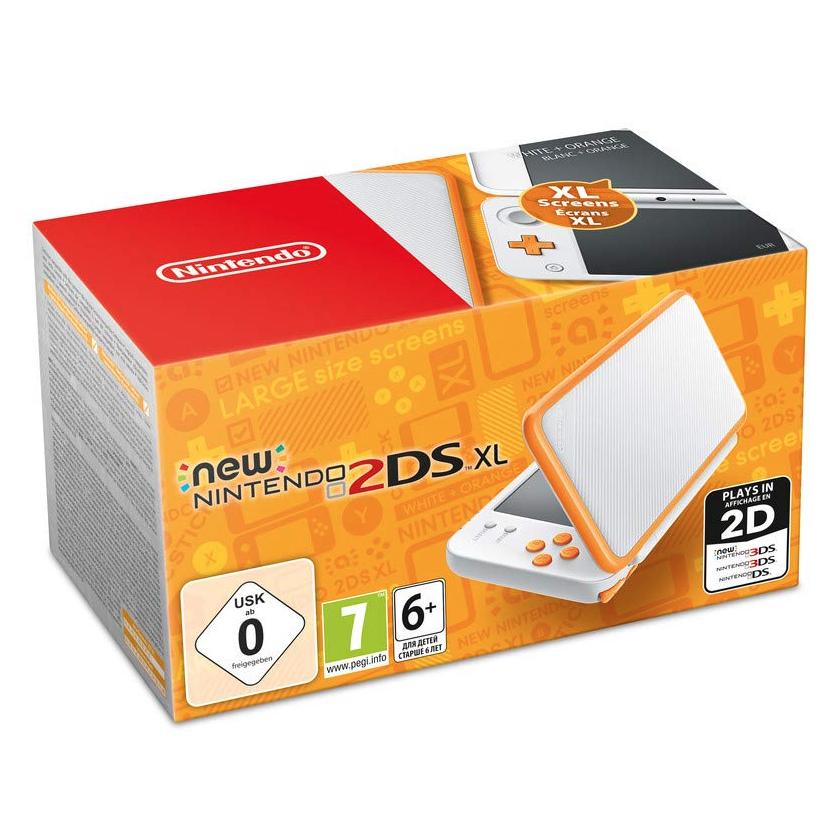 Nintendo New 2DS XL weiß/orange
