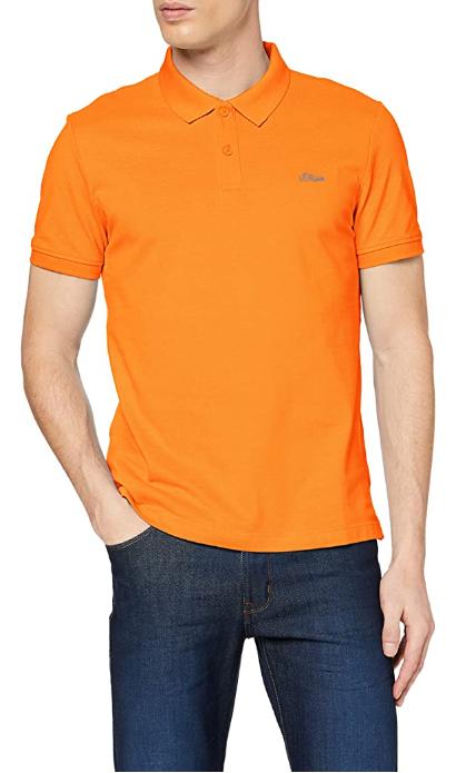 s.Oliver RED Label Herren Poloshirt mit Waffelpiqué-Struktur in rot, blau oder orange