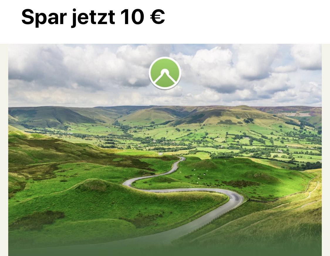 Komoot APP 10 € Rabatt auf das Welt-Paket