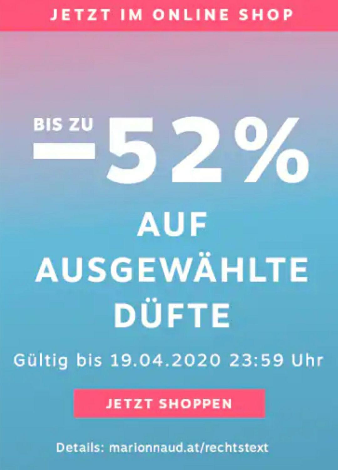 -52% auf Düfte bei Marionnaud