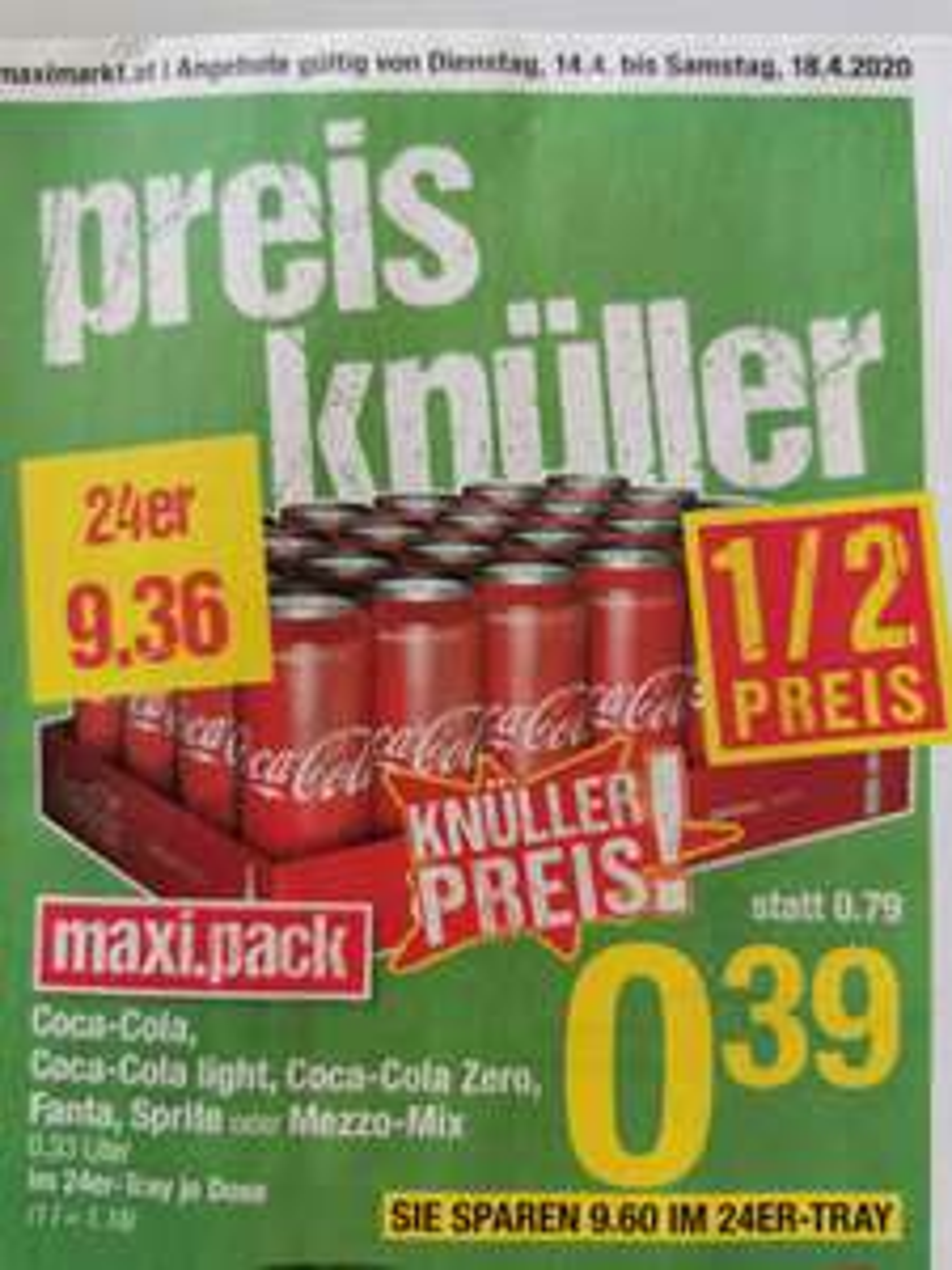 @maximarkt Coca Cola, light, zero, Fanta, Sprite, MezzoMix