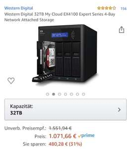 Western Digital My Cloud EX4100 Expert 32TB NAS