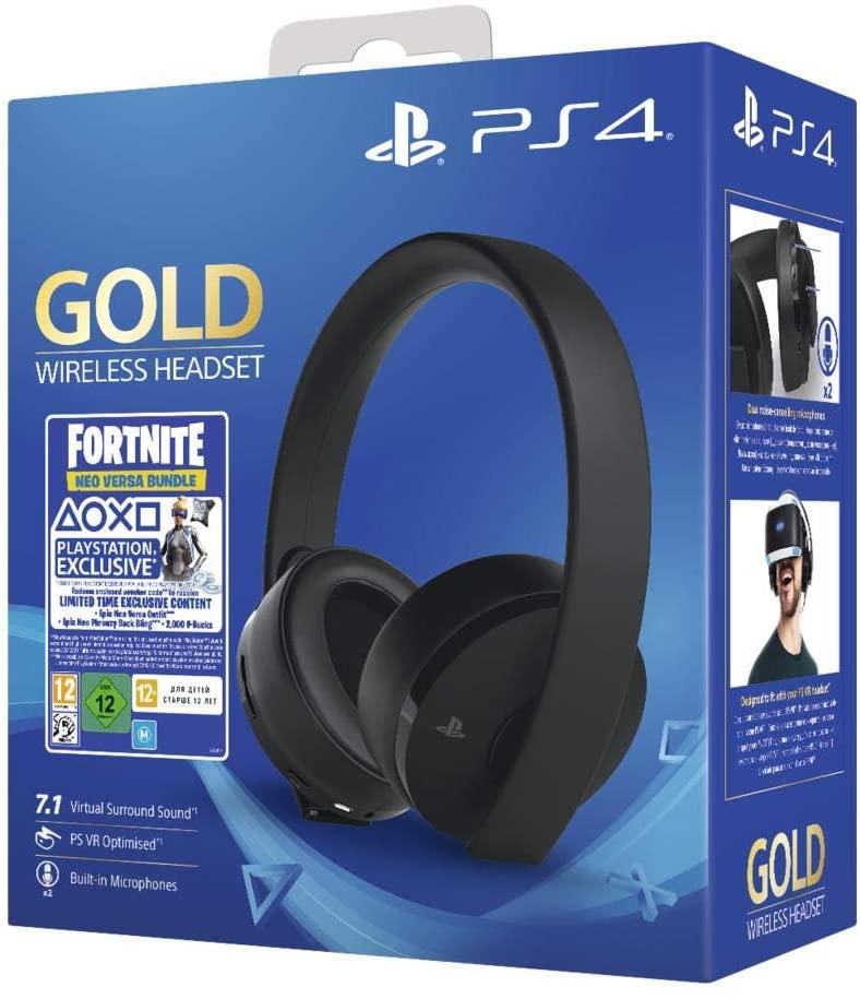 Sony Fortnite Neo Versa Gold Wireless Headset Bundle