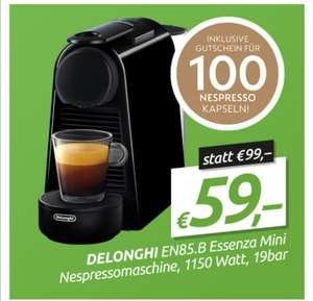 Nespresso Maschine bei 0815 inkl. Kapselgutschein