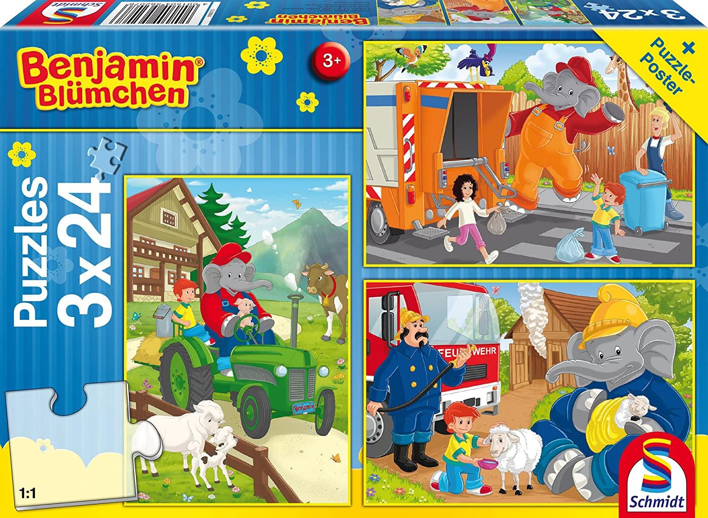 Schmidt Spiele Benjamin Blümchen Benjamin in Aktion Kinderpuzzle