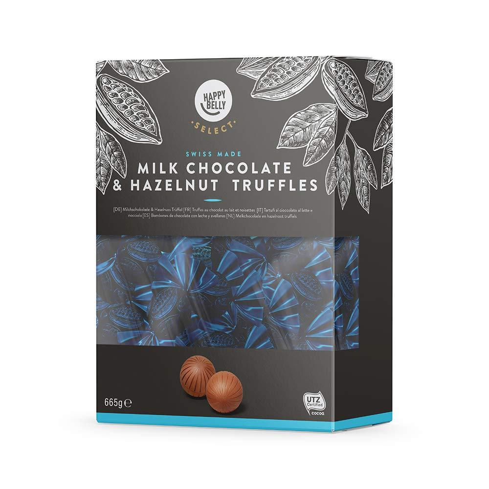 Amazon-Marke: Happy Belly Select - Milchschokolade & Haselnuss Trüffel 665g