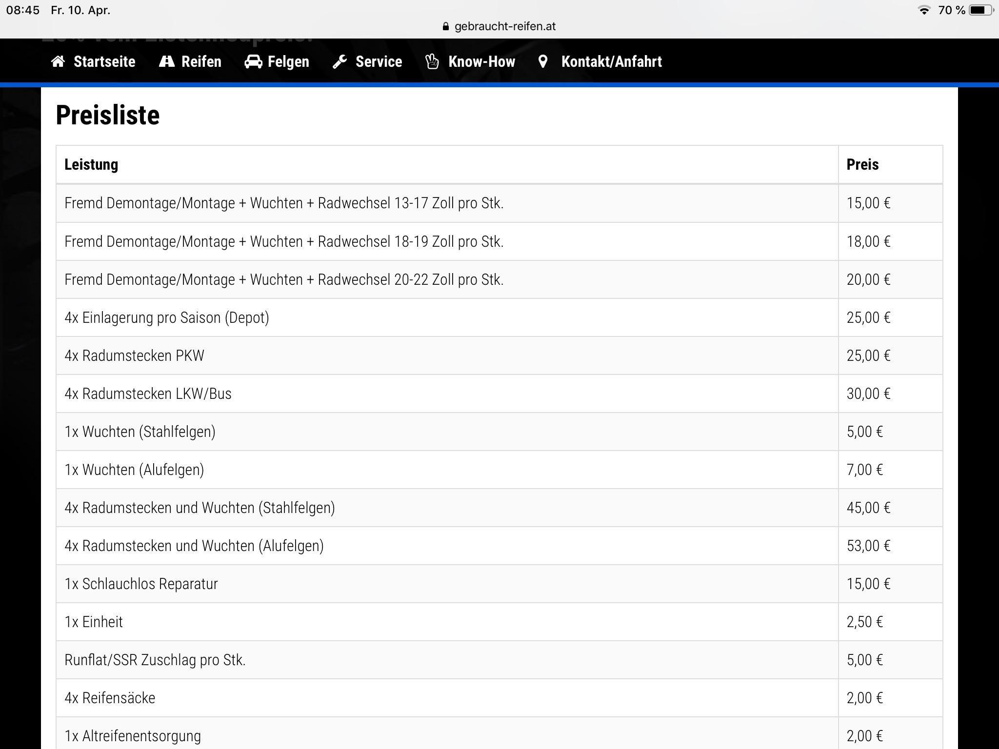 Reifen Zarfl Graz Online gekauft Reifen und Preisliste