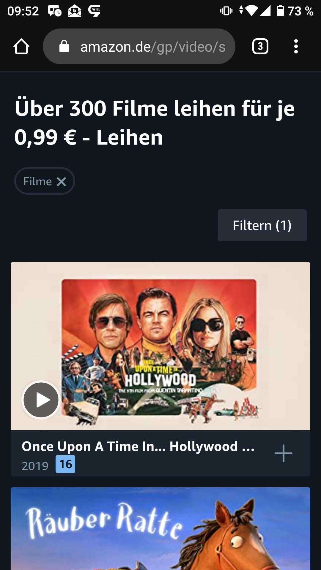 Prime Video: Über 300 Filme um 0,99€ leihen