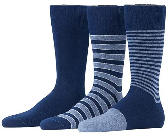 3x ESPRIT Herren Socken Outline Stripe Marine