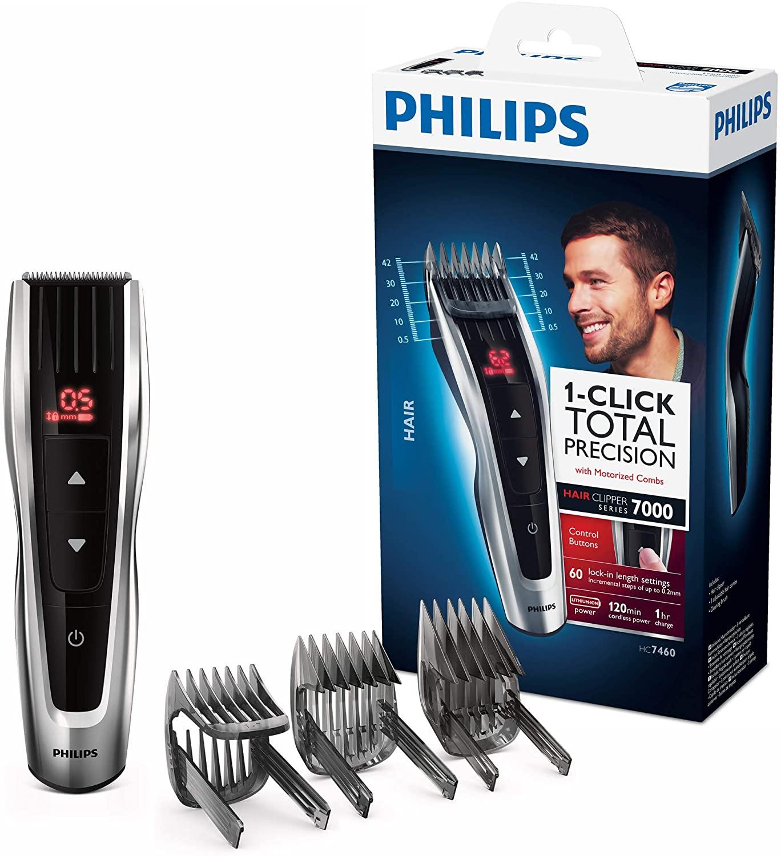 [Mediamarkt] PHILIPS Haarschneider HC7460/15 mit 3 Aufsätzen um 44€