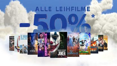Osteraktion bei Sky mit 50% Rabatt auf Leihfilme bis 13.4.2020.
