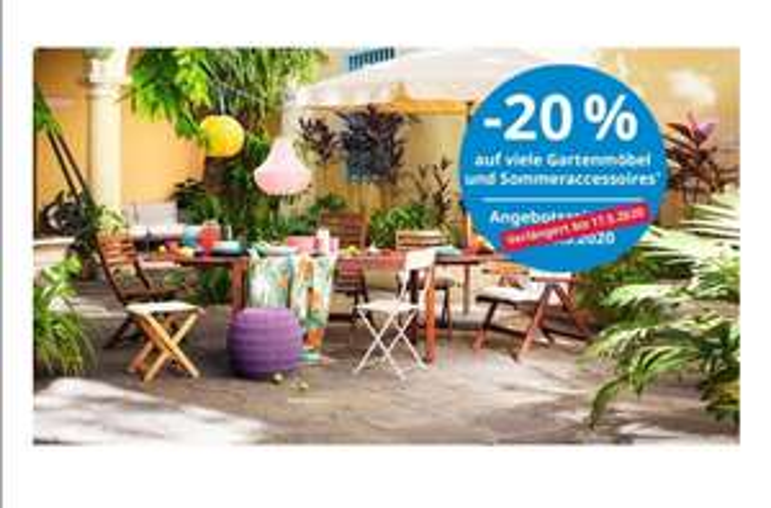 IKEA - 20% auf viele Gartenmöbel und Sommeraccessoires*
