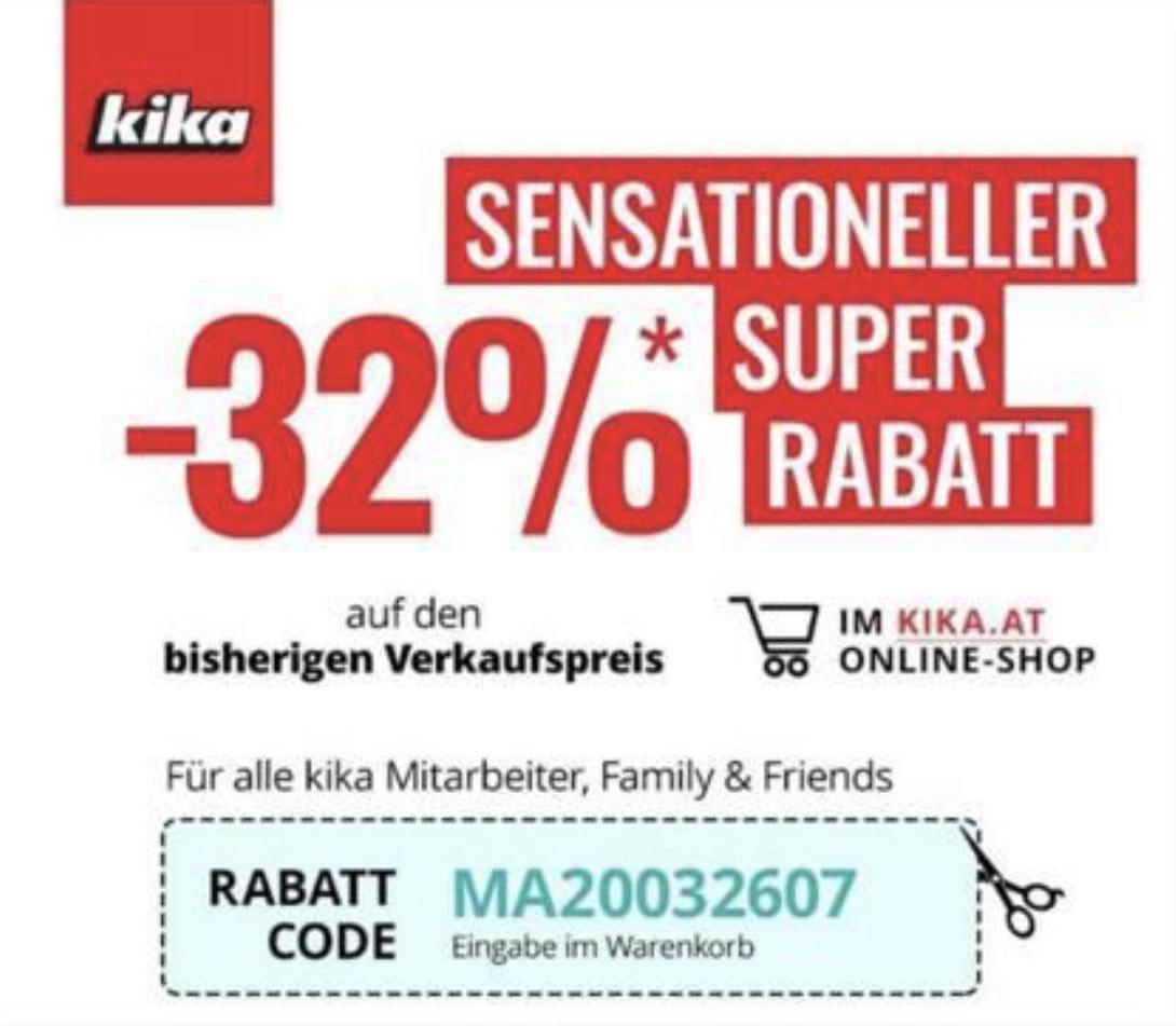 Kika: 32% Rabatt auf den bisherigen Verkaufspreis