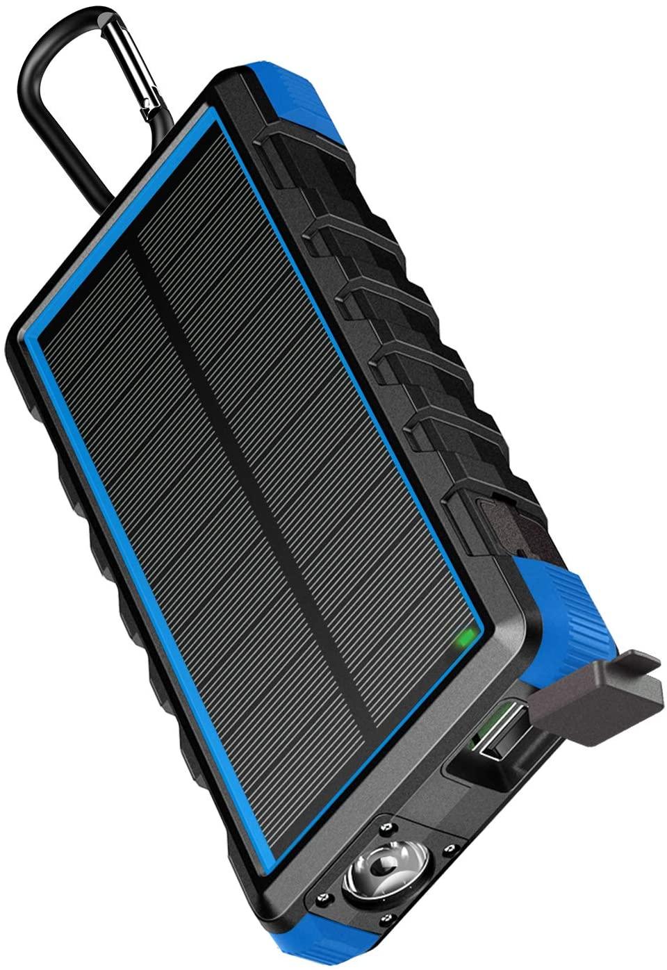 EasyAcc Powerbank 24000mAh Wasserdicht IP66 Outdoor Solar Akkupack