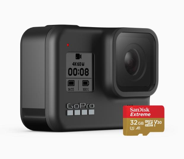 gopro.com Aktion GoPro Hero 8 Black mit 32GB SD Card