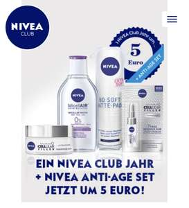 1 NIVEA Club Jahr + NIVEA Cellular Set um € 5,-