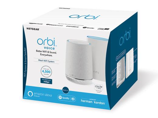 Netgear Orbi WLAN Mesh-System RBK50V + Harman Kardon Smart-Speaker mit Alexa