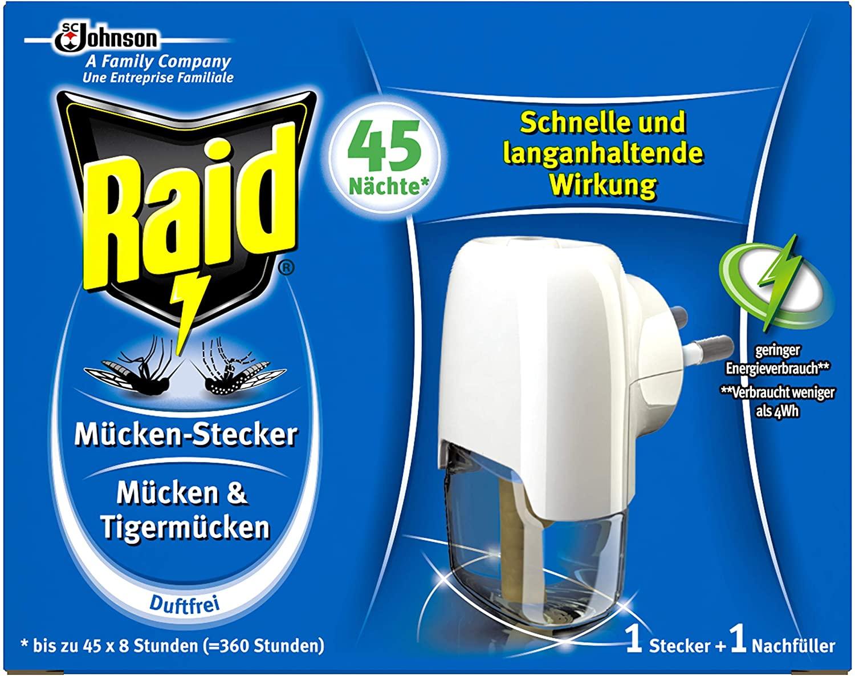 Raid Insekten-Stecker zum Schutz vor Mücken und Tigermücken (1 Stück) 3,7 euro