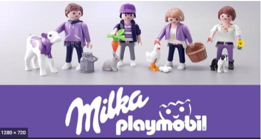 3 Milka Schokohasen + Milka Playmobil Figur