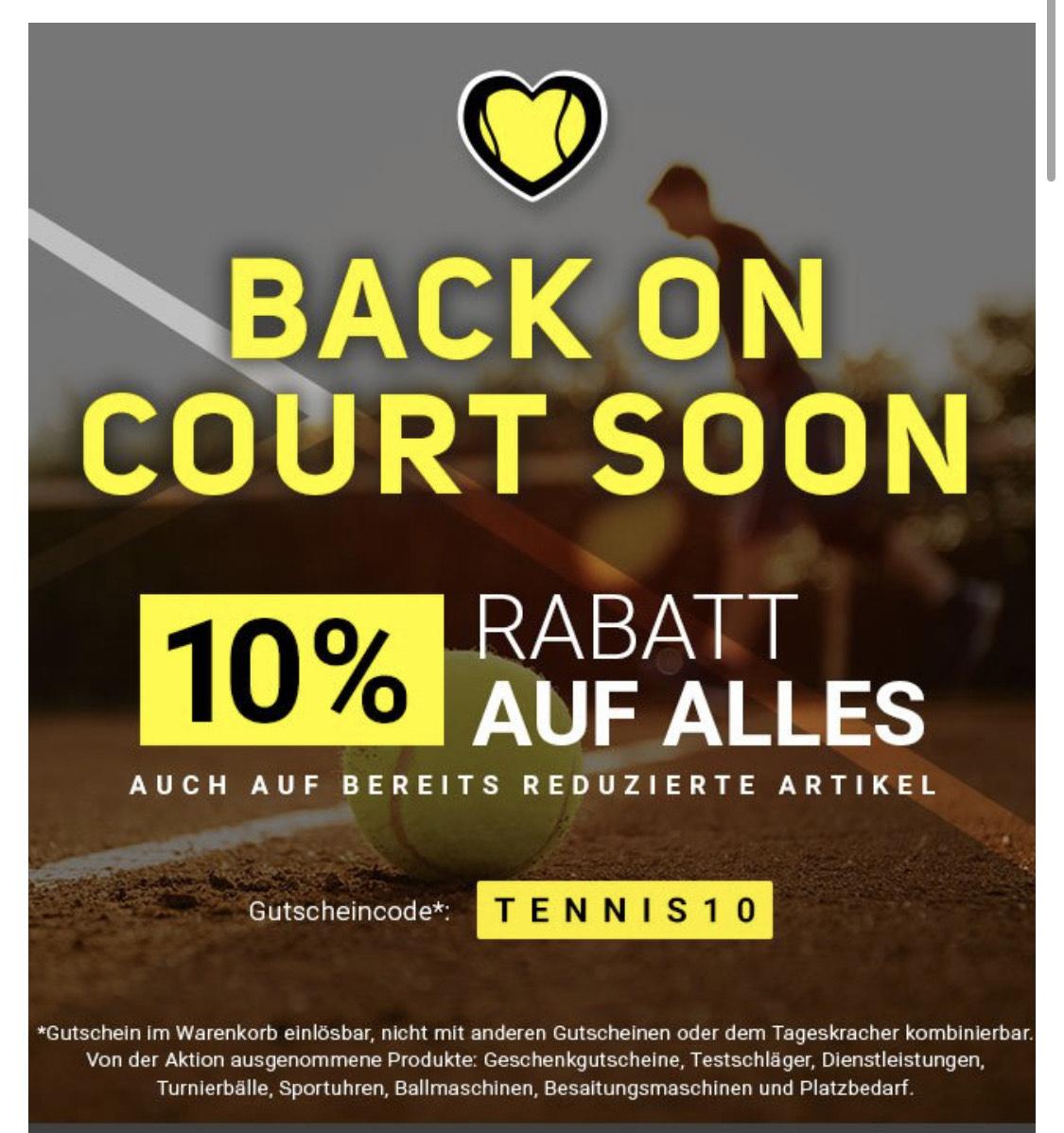 Tennis-Point 10% Rabatt auf fast alles