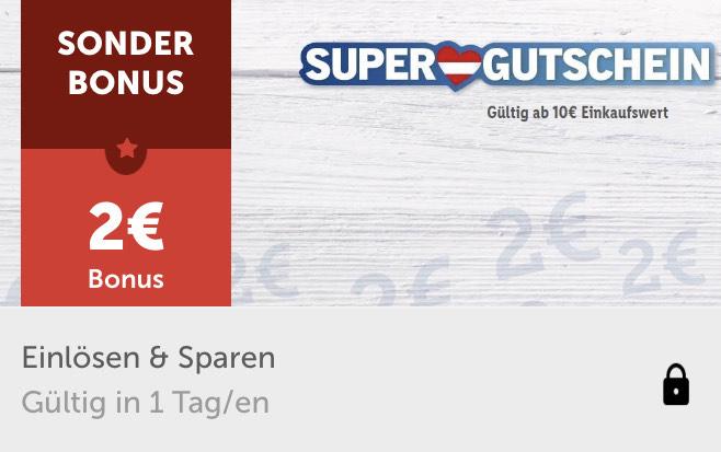€ 2,— Rabatt ab € 10,— Einkaufswert - gültig bis 25.4.