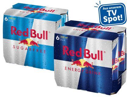 6x Redbull 0,25L (0,88 € / Dose)