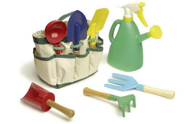 Preisjäger Junior: Small Foot Gartengeräte Set mit Tasche