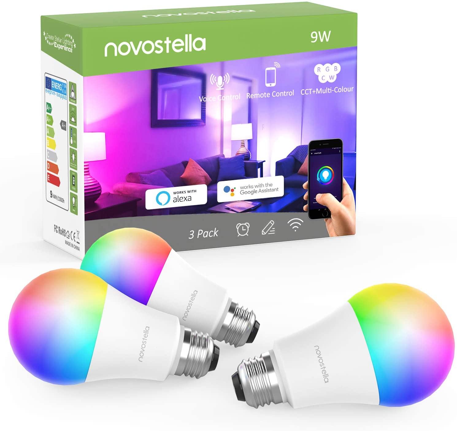 Novostella 9W 900LM LED Wlan RGB Lampen im 3er Set