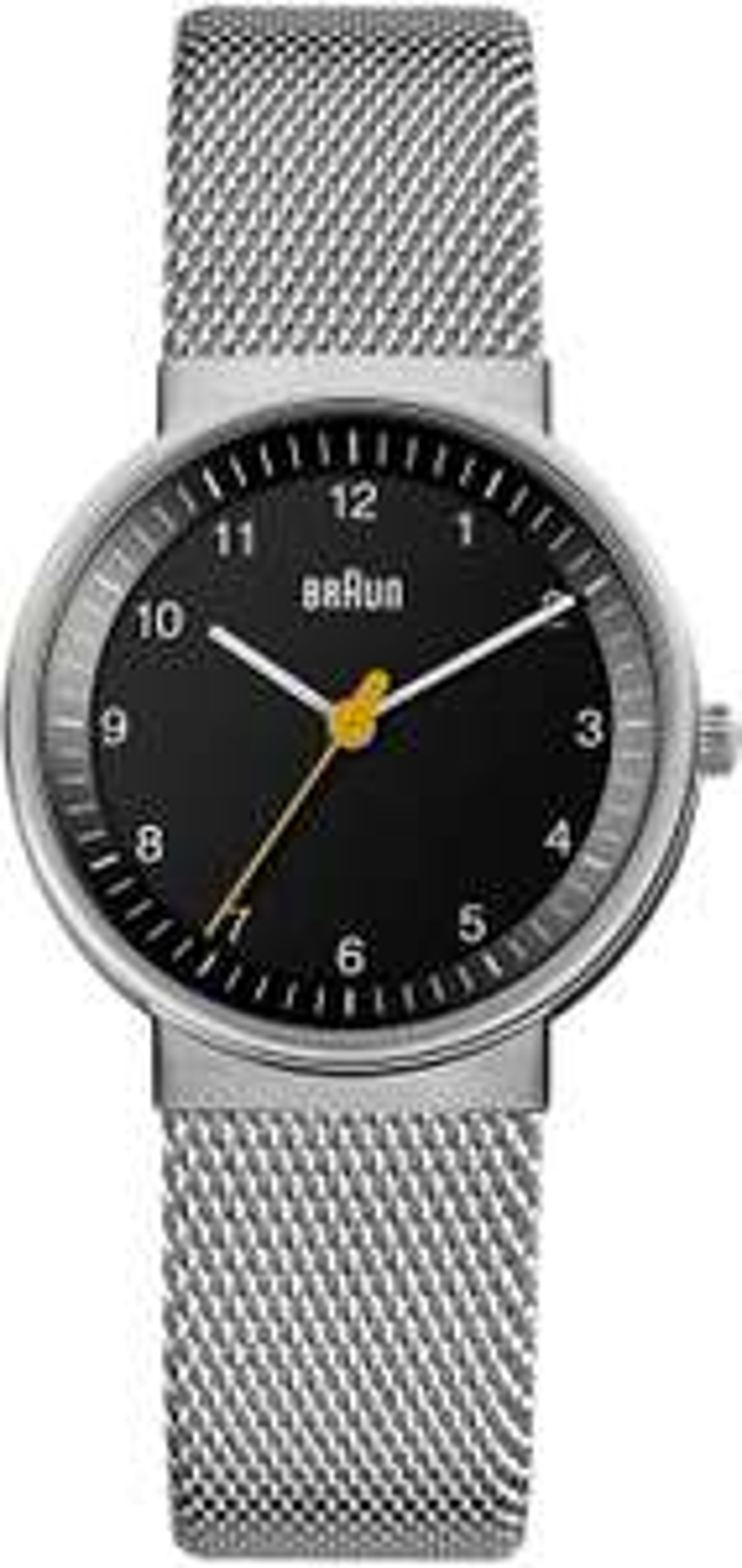 Braun Design Quarz Edelstahl Damenuhr 32 mm