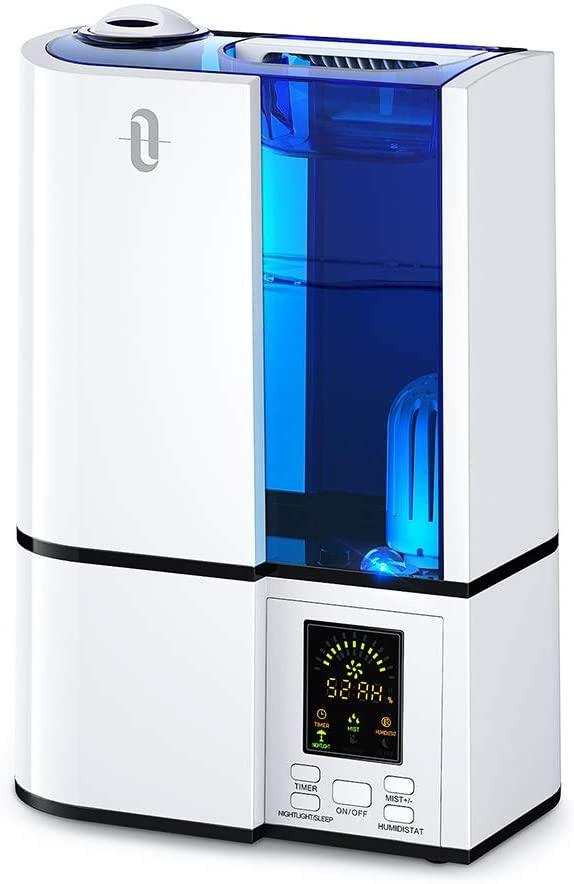 TaoTronics TT-AH001 Ultraschall Raumluftbefeuchter, 100-300ml/h, 38dB, Timer