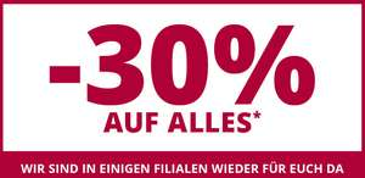 Takko: 30% Rabatt auf alles - nicht kombinierbar mit anderen Aktionen