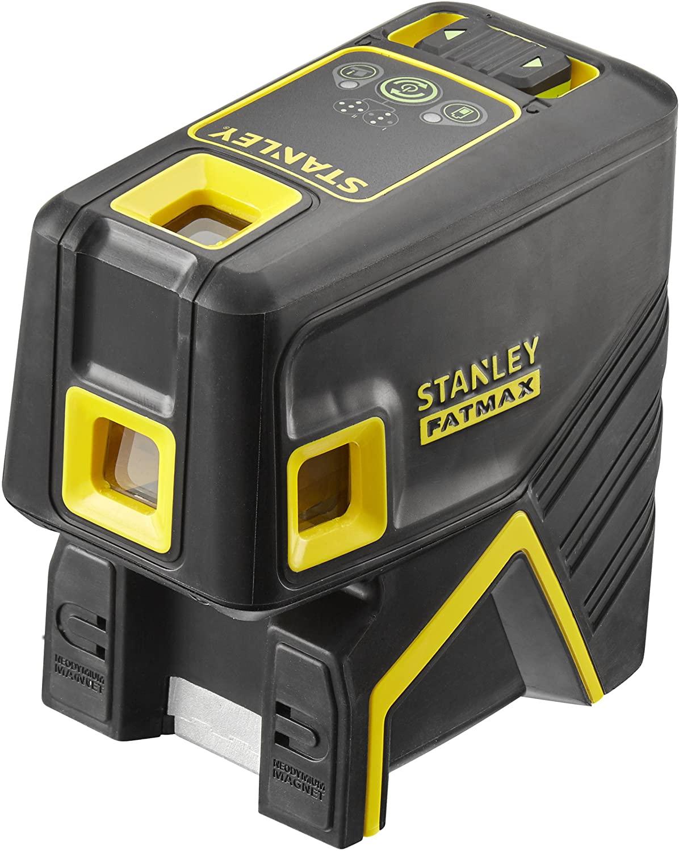 Stanley FatMax 5-Punktlaser – grün, Selbstnivellierung auf ± 4°, Arbeitsbereich: ± 45m, Laserklasse: 2 (EN60825-1)