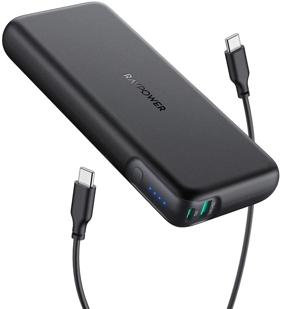 RAVPower USB-C Powerbank mit 20.000 mAh & 60W Leistung