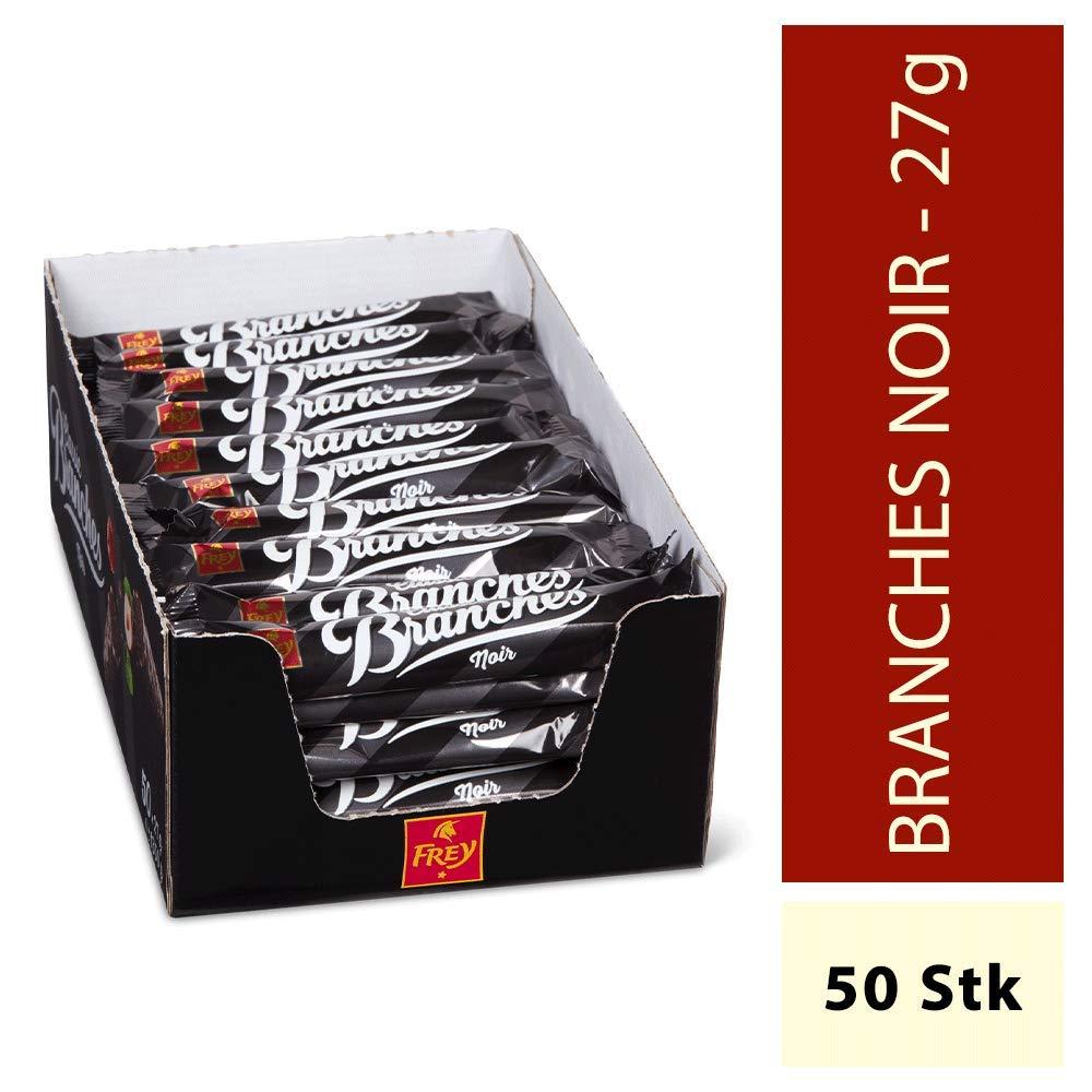 Frey Branches Classic Schokoriegel Noir 50er-Pack (Dunkle Schokolade)