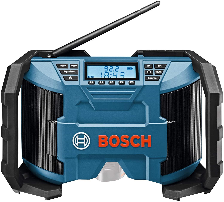 Bosch Professional Akku-Baustellenradio GPB 12V-10 (3,5mm AUX Kabel, FM/AM, MP3, mit Netzteil, ohne Akkus und Ladegerät)