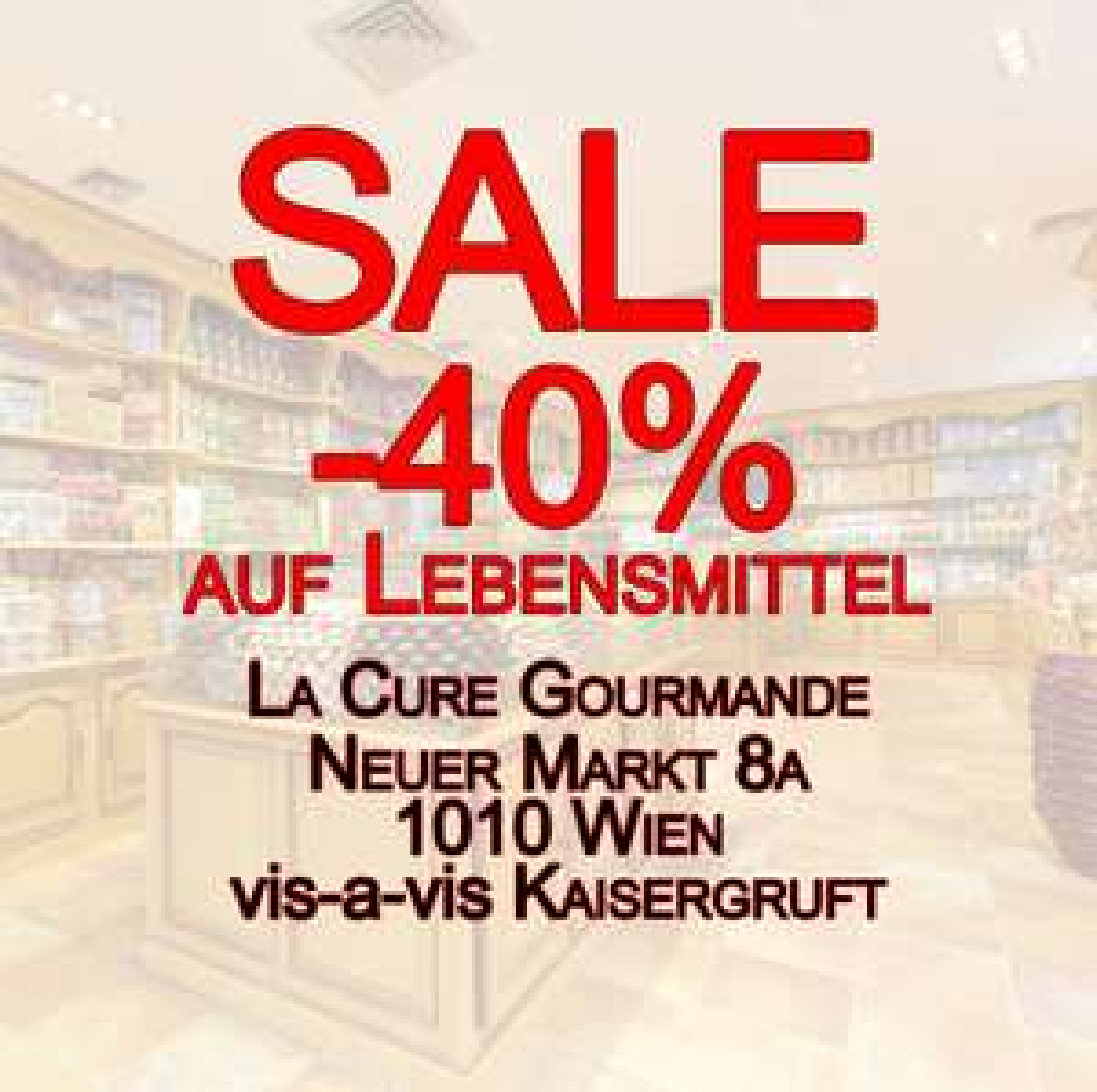 40% Rabatt bei La Cure Gourmande, 1010 Wien